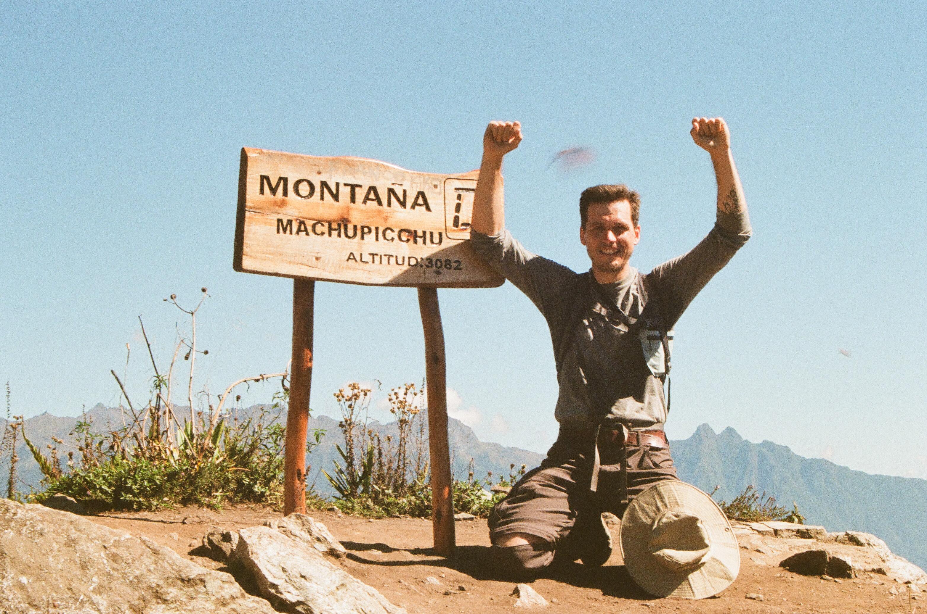Au sommet de la montana Machu Pichu