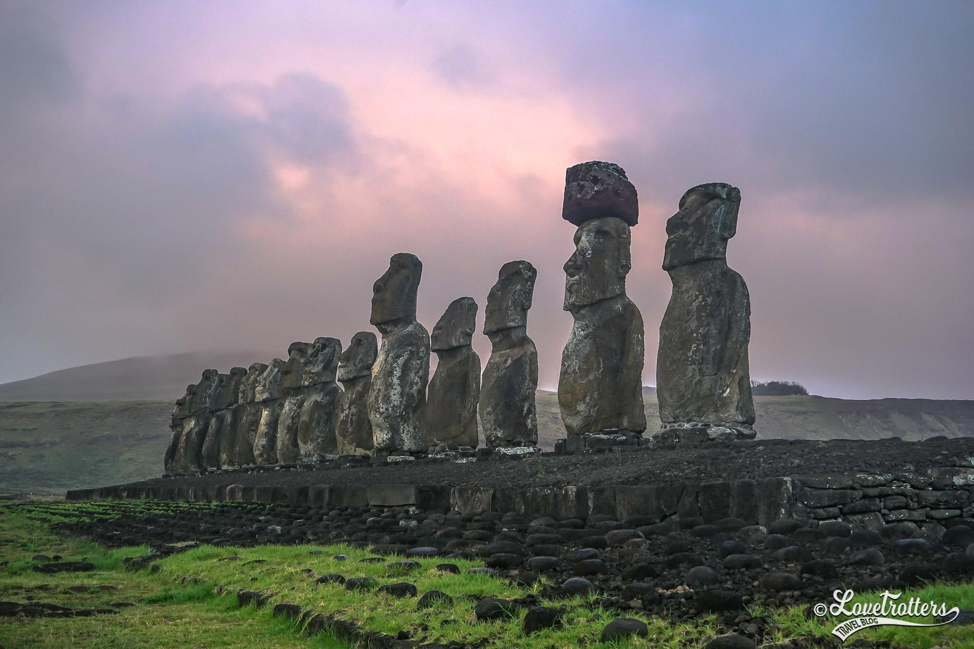 voyage autour du monde arrêt sur l'île de Pâques