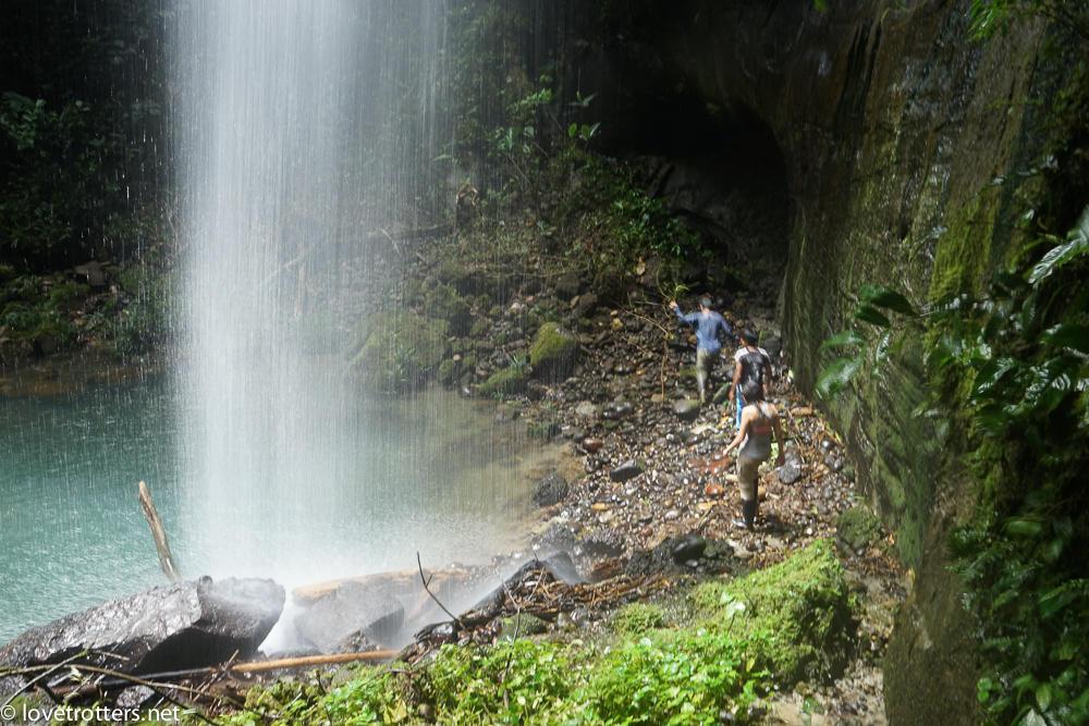 cascade au milieu de la forêt amazonienne