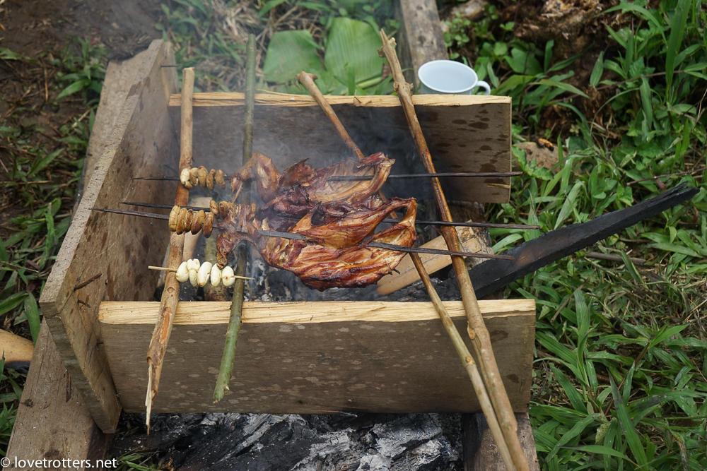 barbecue en amazonie