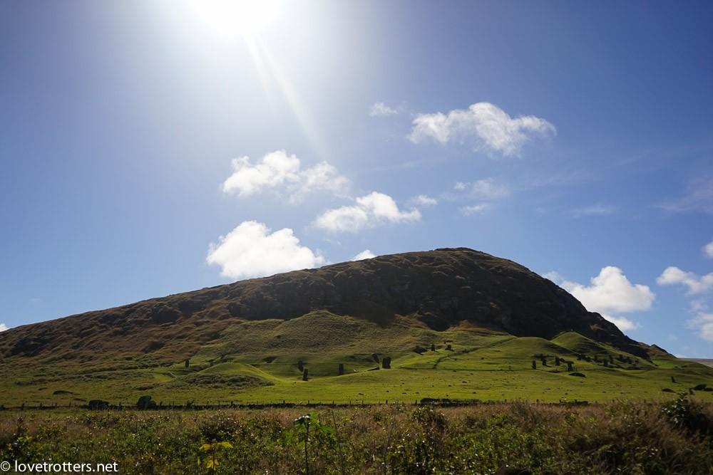easter island ranu raraku moai