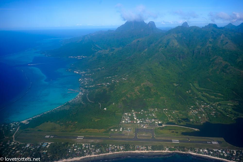Polynesie francaise Moorea vue du ciel