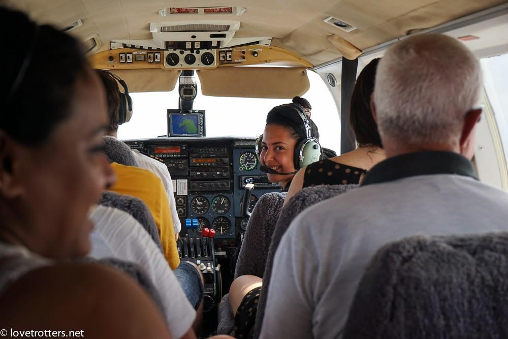 Unity Airlines plane cockpit