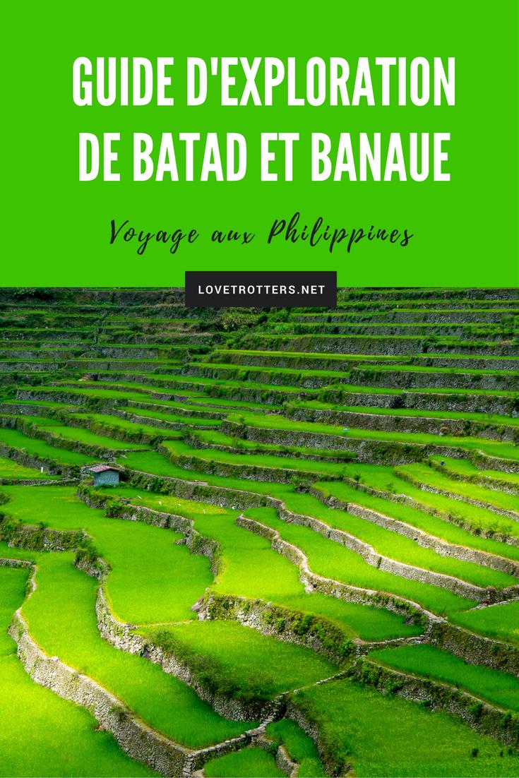 Guide d'exploration des terrasses de riz de Banaue, Batad et Bangaan