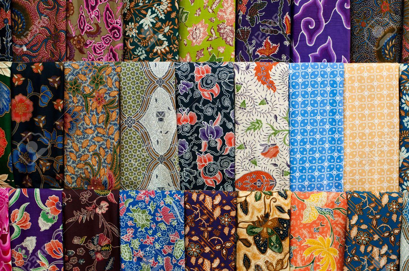 12883839-Closeup-of-colorful-batik-Yogyakarta-Central-Java-Indonesia-Stock-Photo
