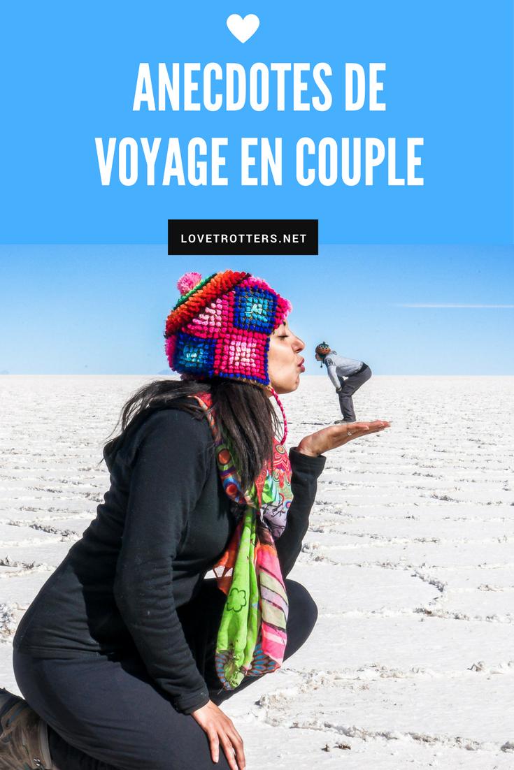 Anecdotes de voyage en couple racontées par plusieurs couples de blogueurs