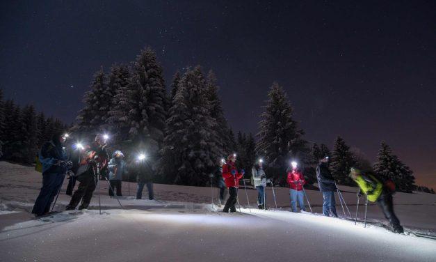 Activité hivernale inédite au Québec: Raquettes sous les étoiles