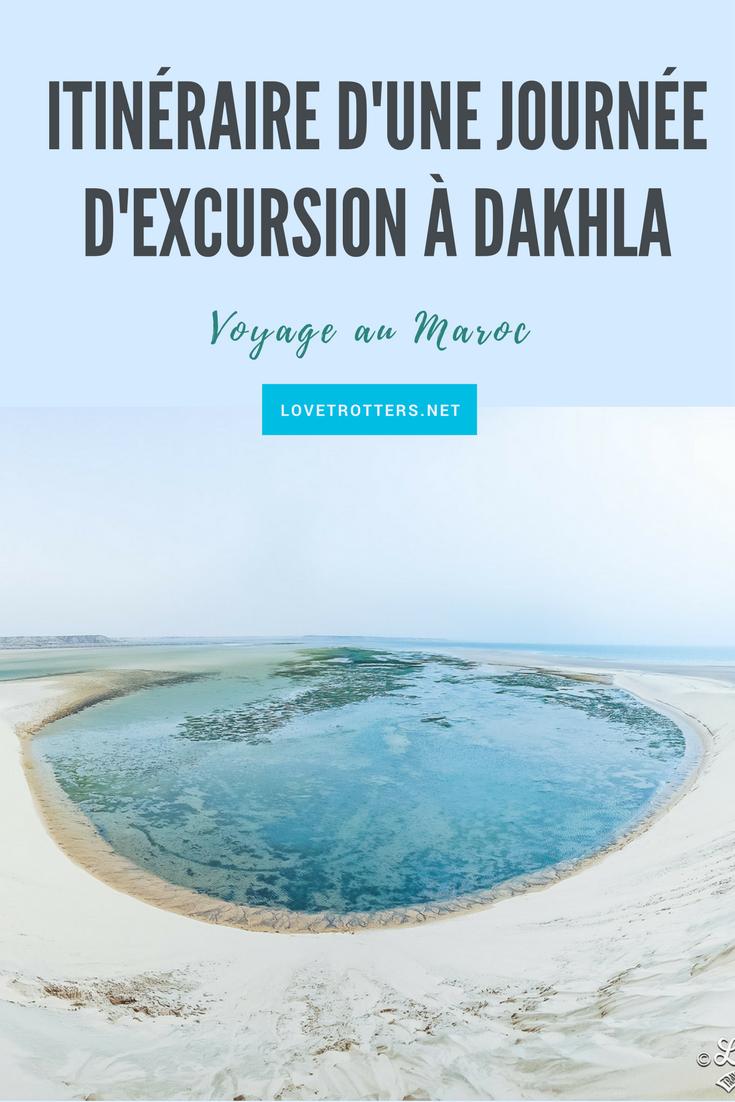 Itinéraire d'une journée d'excursions à Dakhla au Maroc