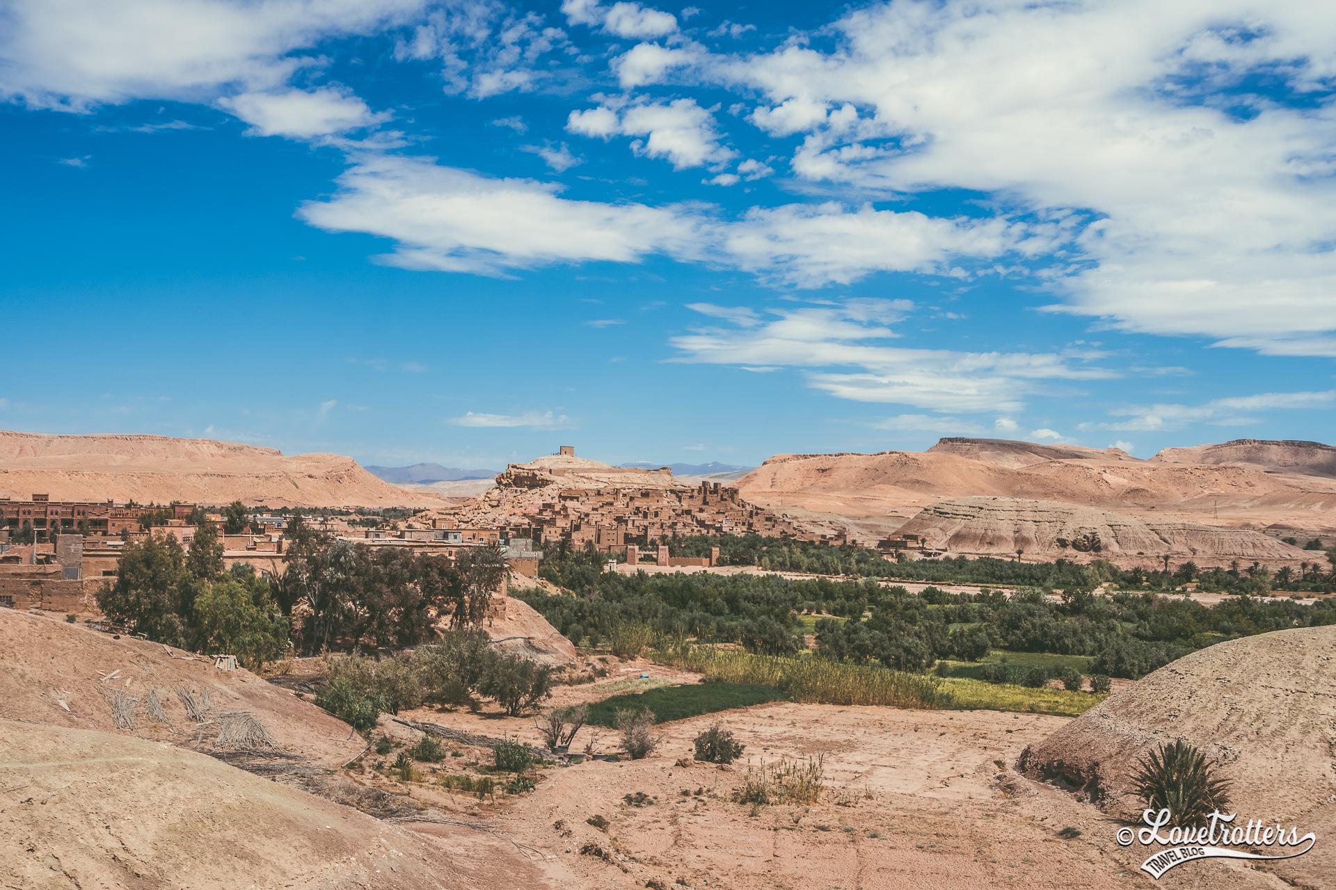 panorama sur kasbah ait benheddou