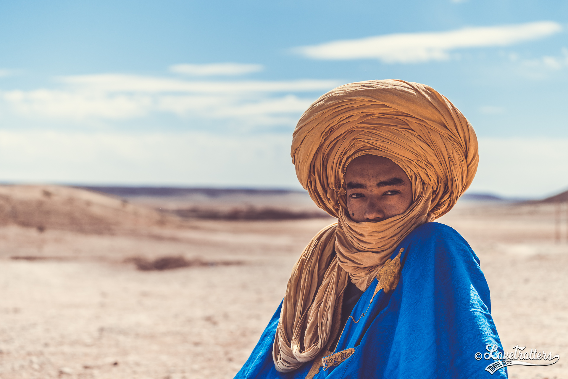 Nomade du désert du Maroc