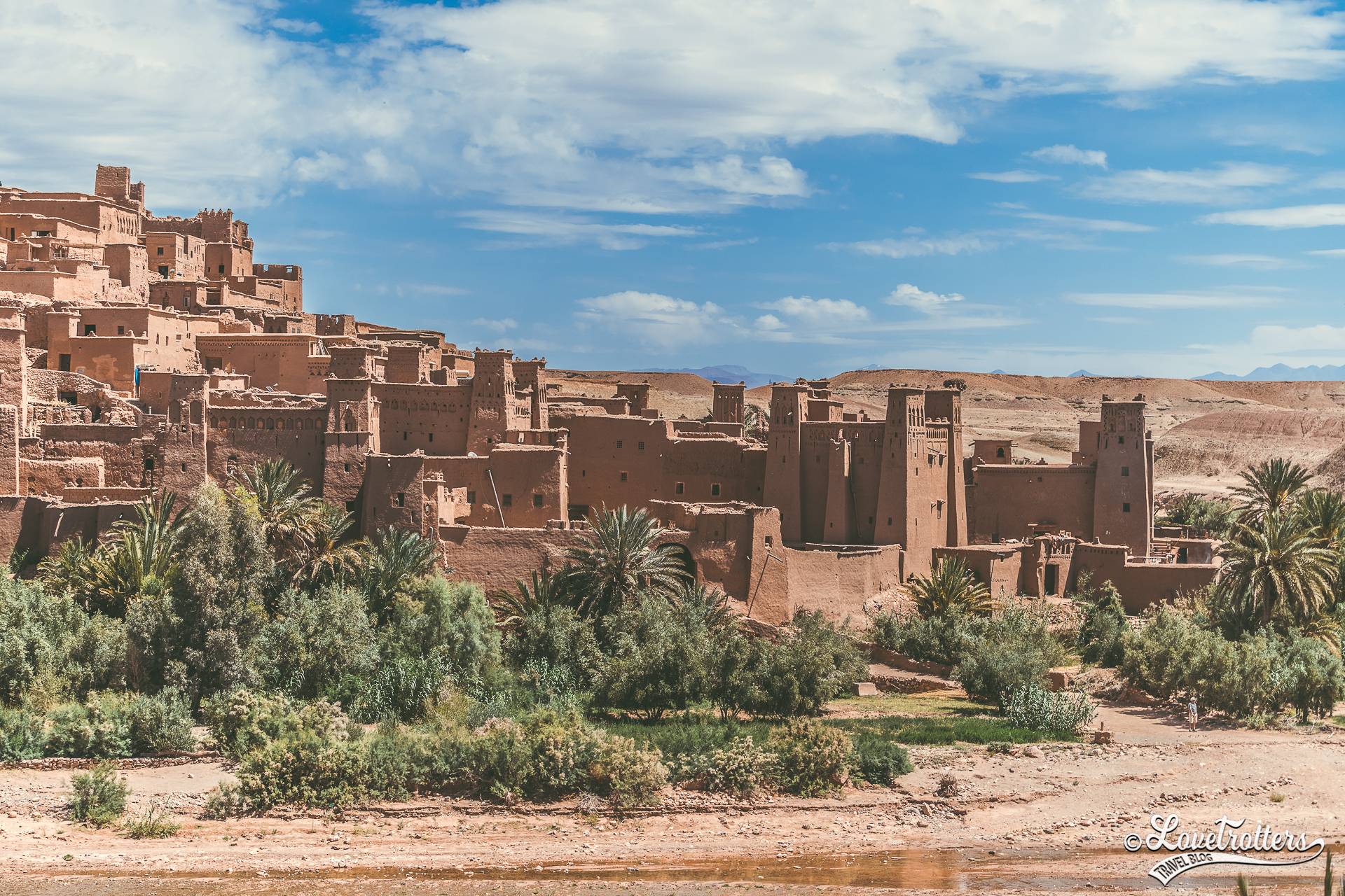 Kasbah Ait Benheddou et la rivière salée