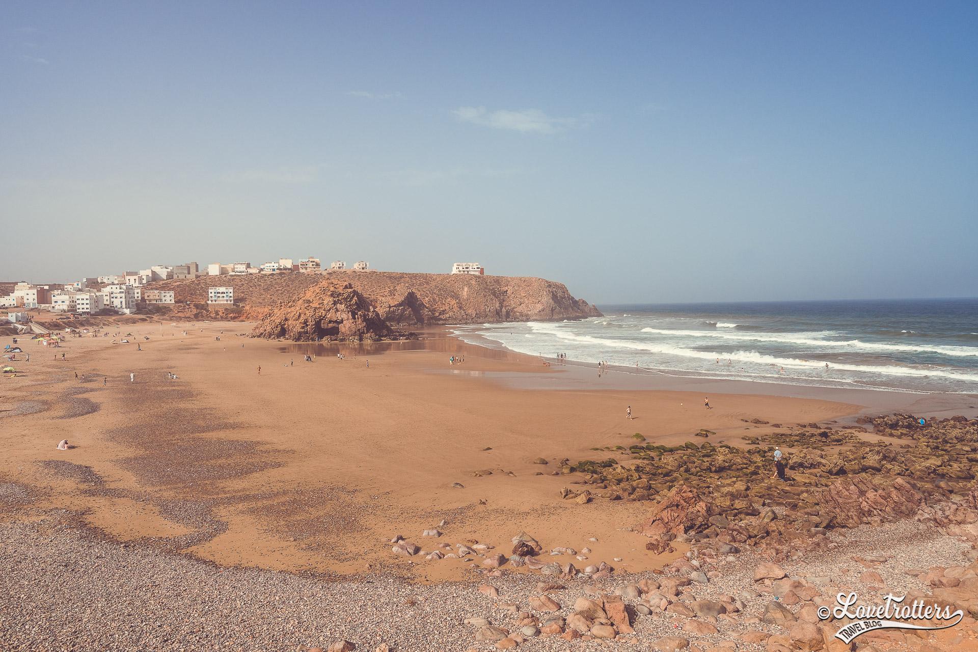 plage Marabout à Mirleft