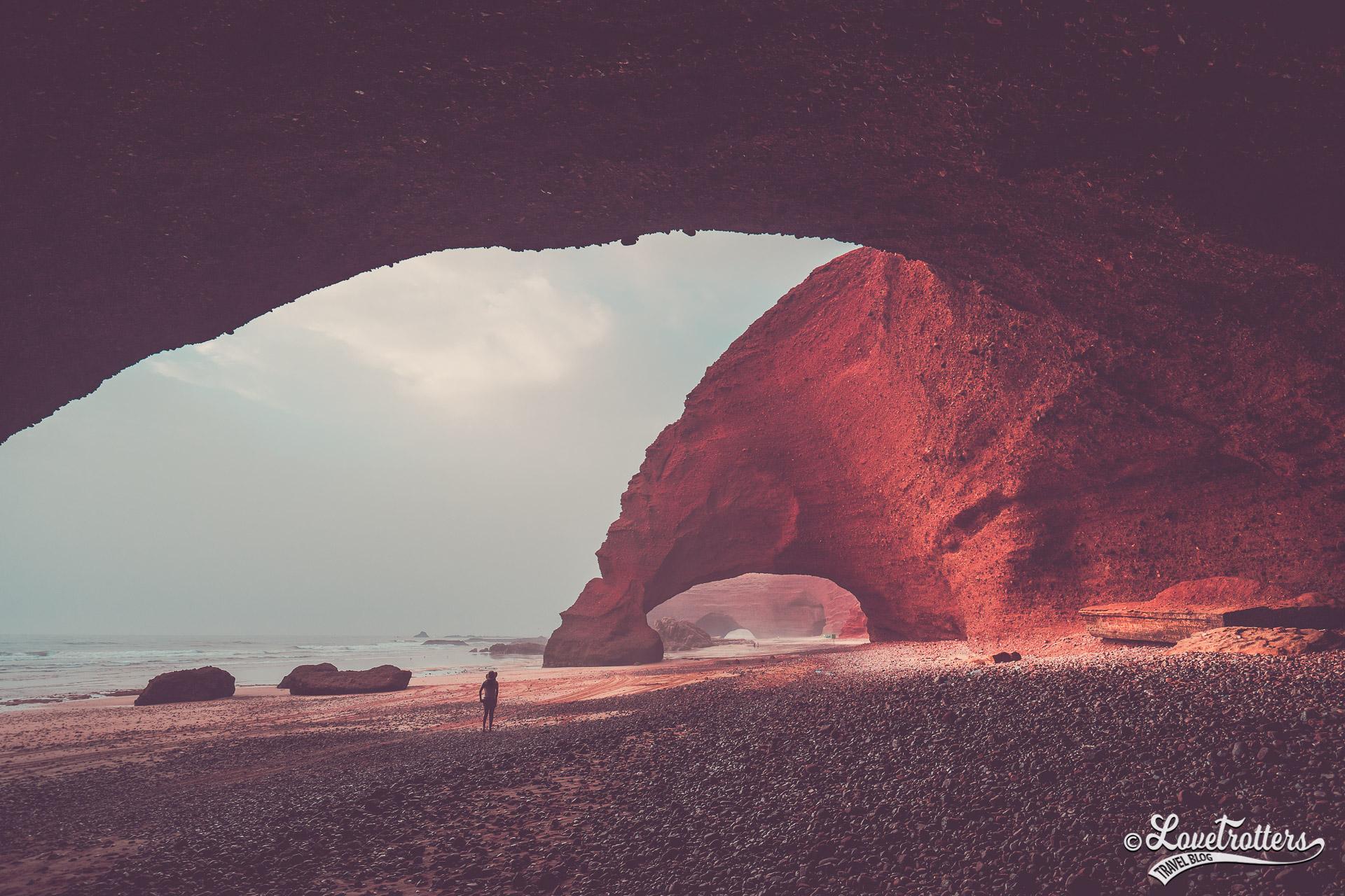 Les plus belles plages sauvages du Maroc : arches de Legzira