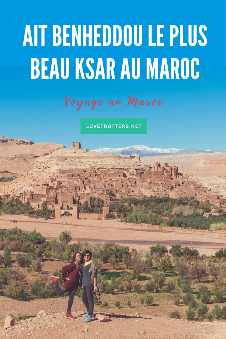 Ksar ait benheddou, le plus beau ksar au Maroc