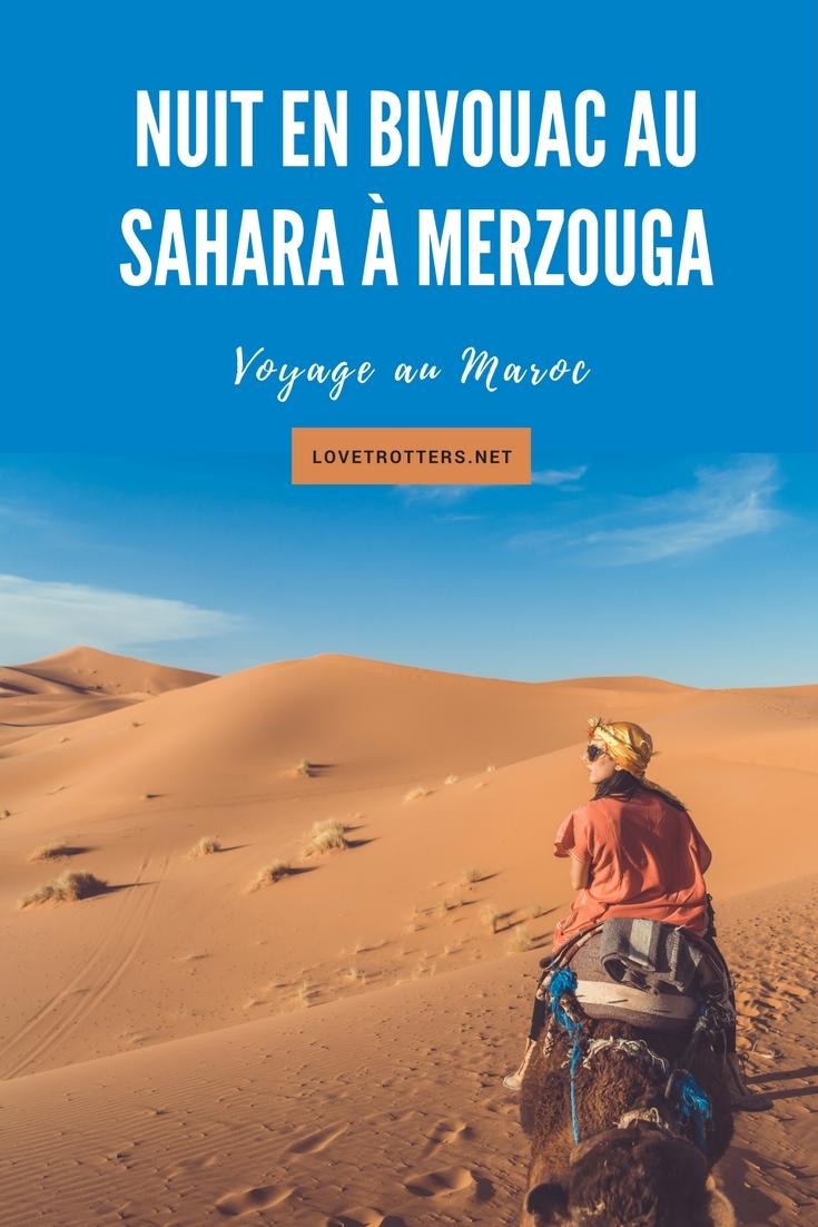 Nuit en bivouac au sahara Merzouga erg chebbi