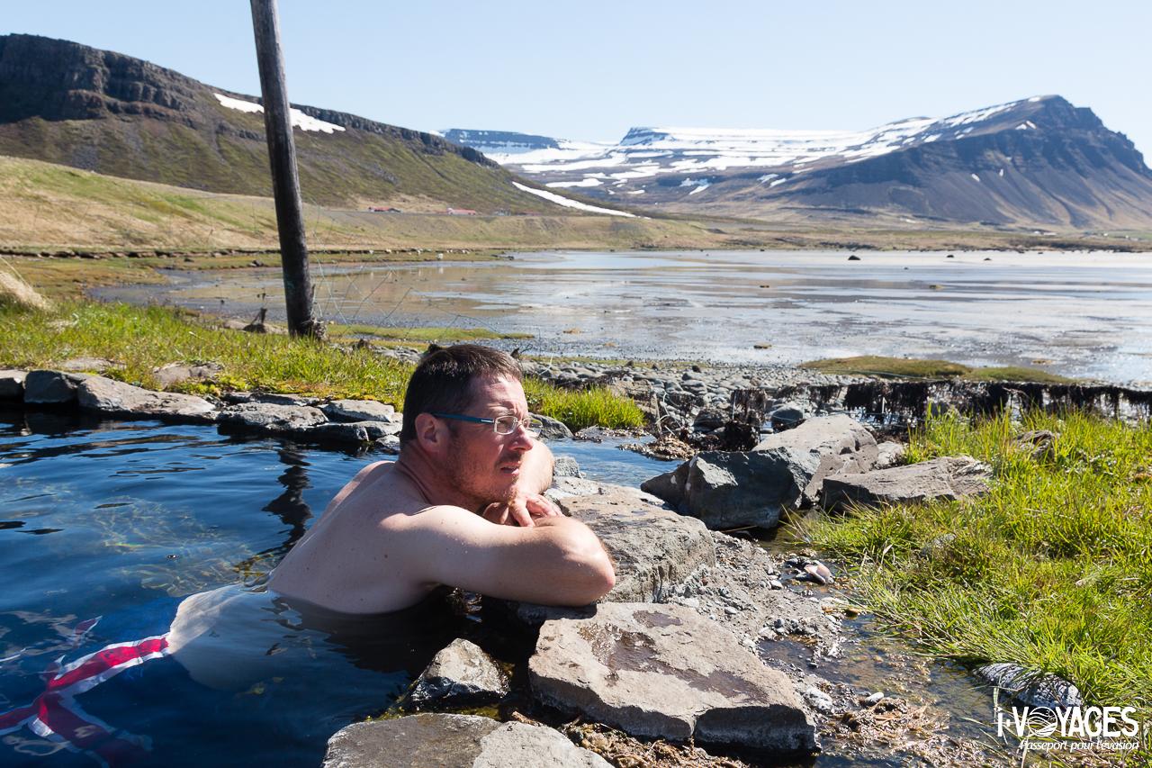 Hotpot dans le westfjord islandais