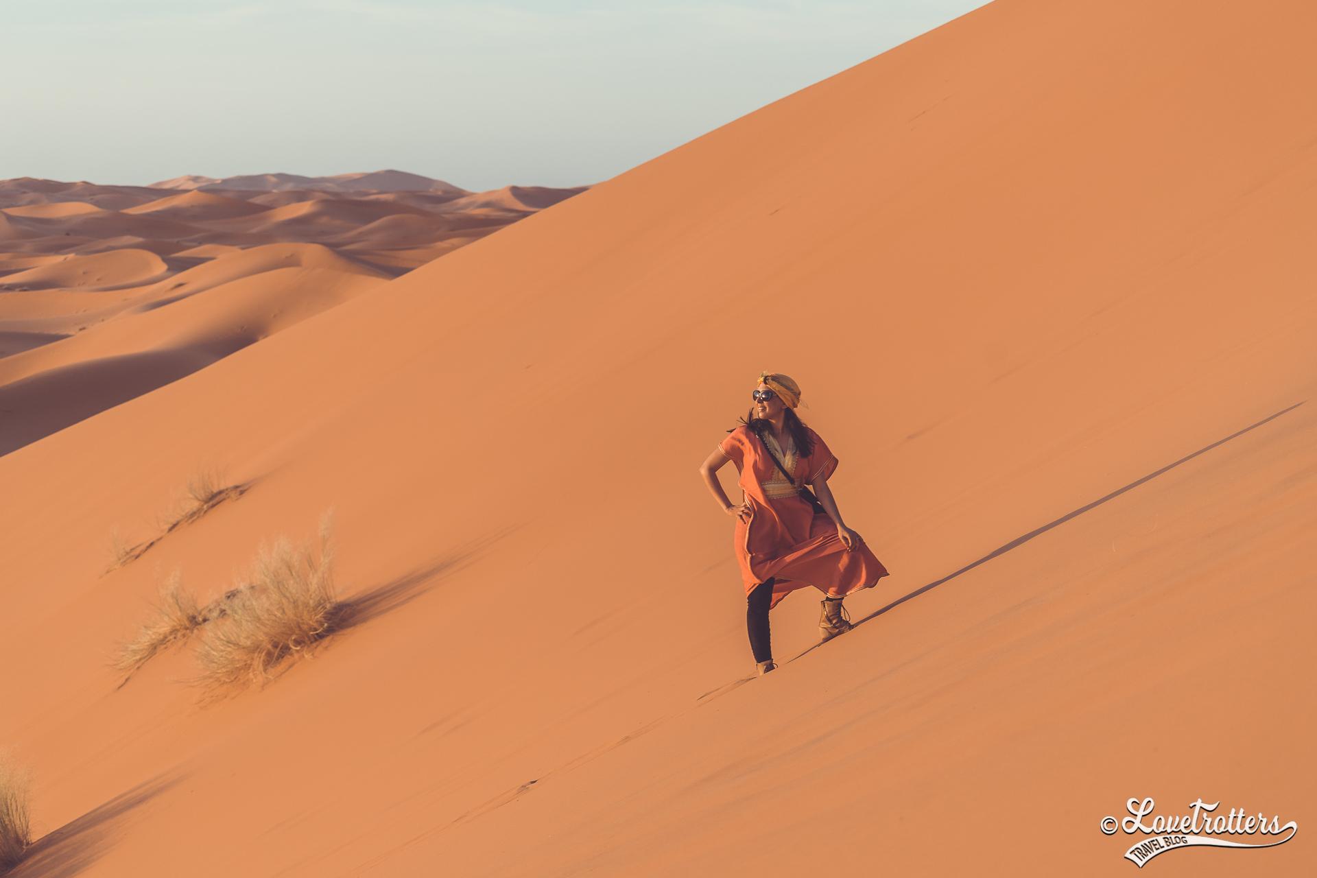 Coucher de soleil à l'erg Chebbi Merzouga