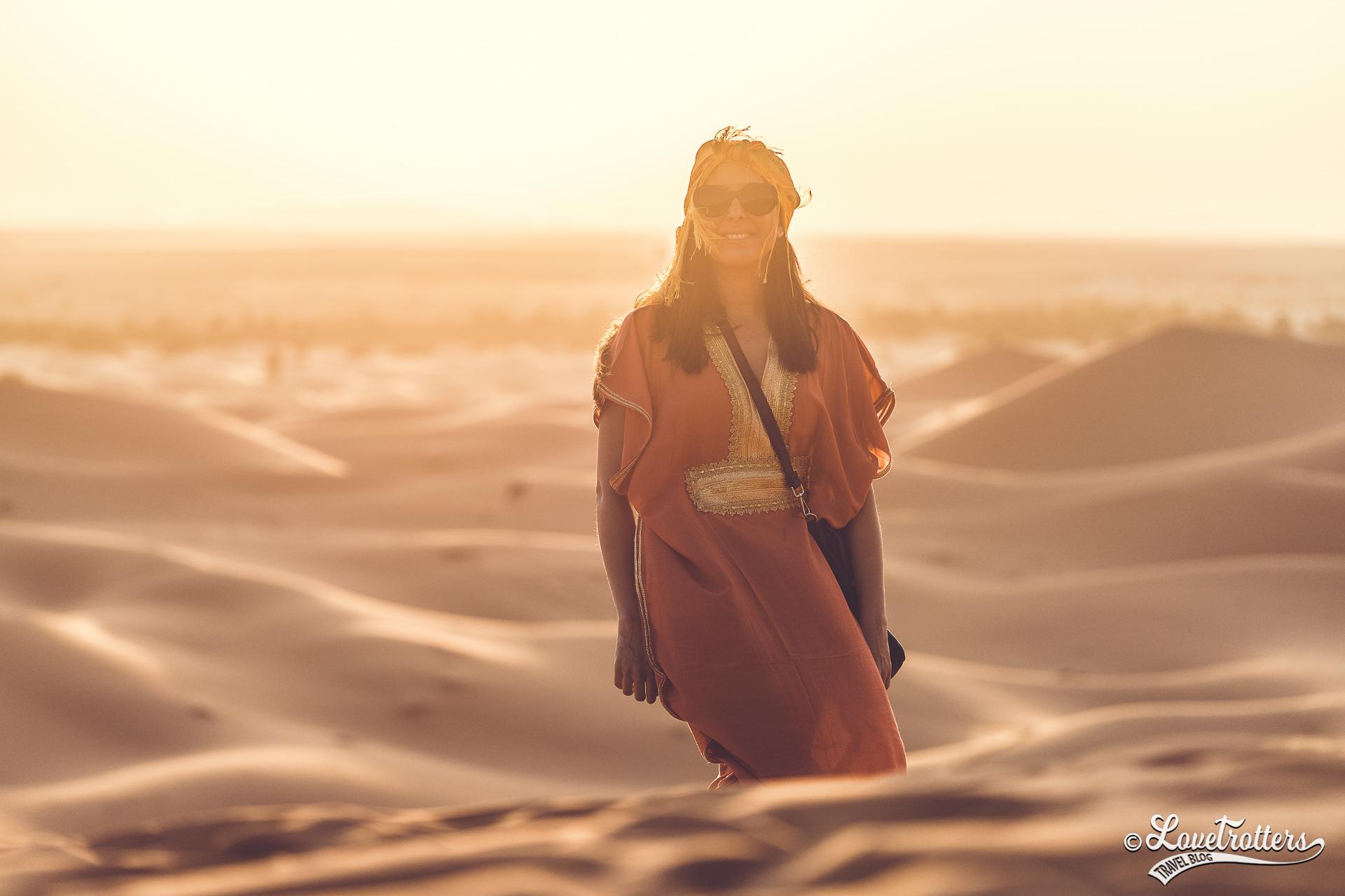 Coucher de soleil à Merzouga