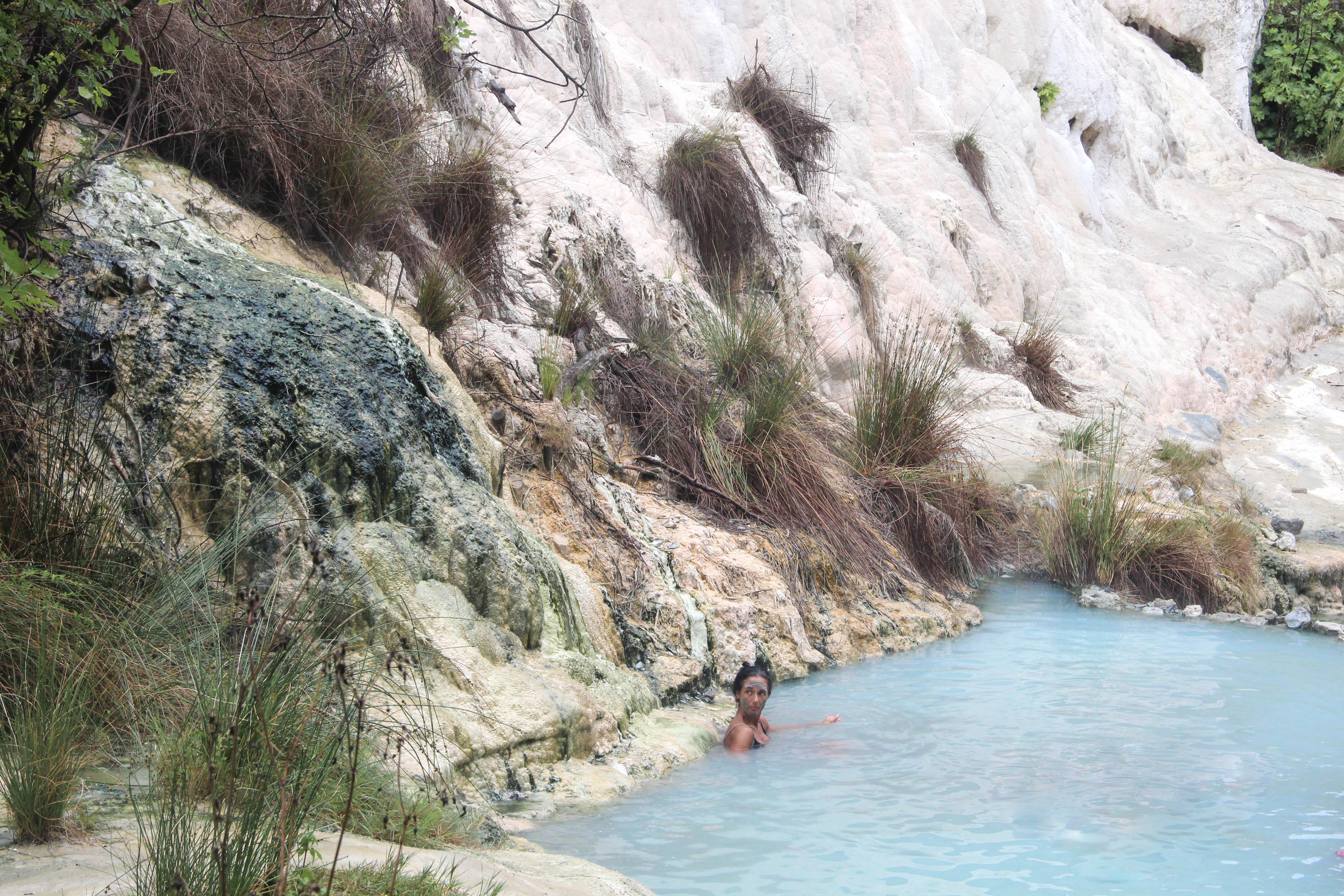 Les bains de San Filippo en Toscane, Italie