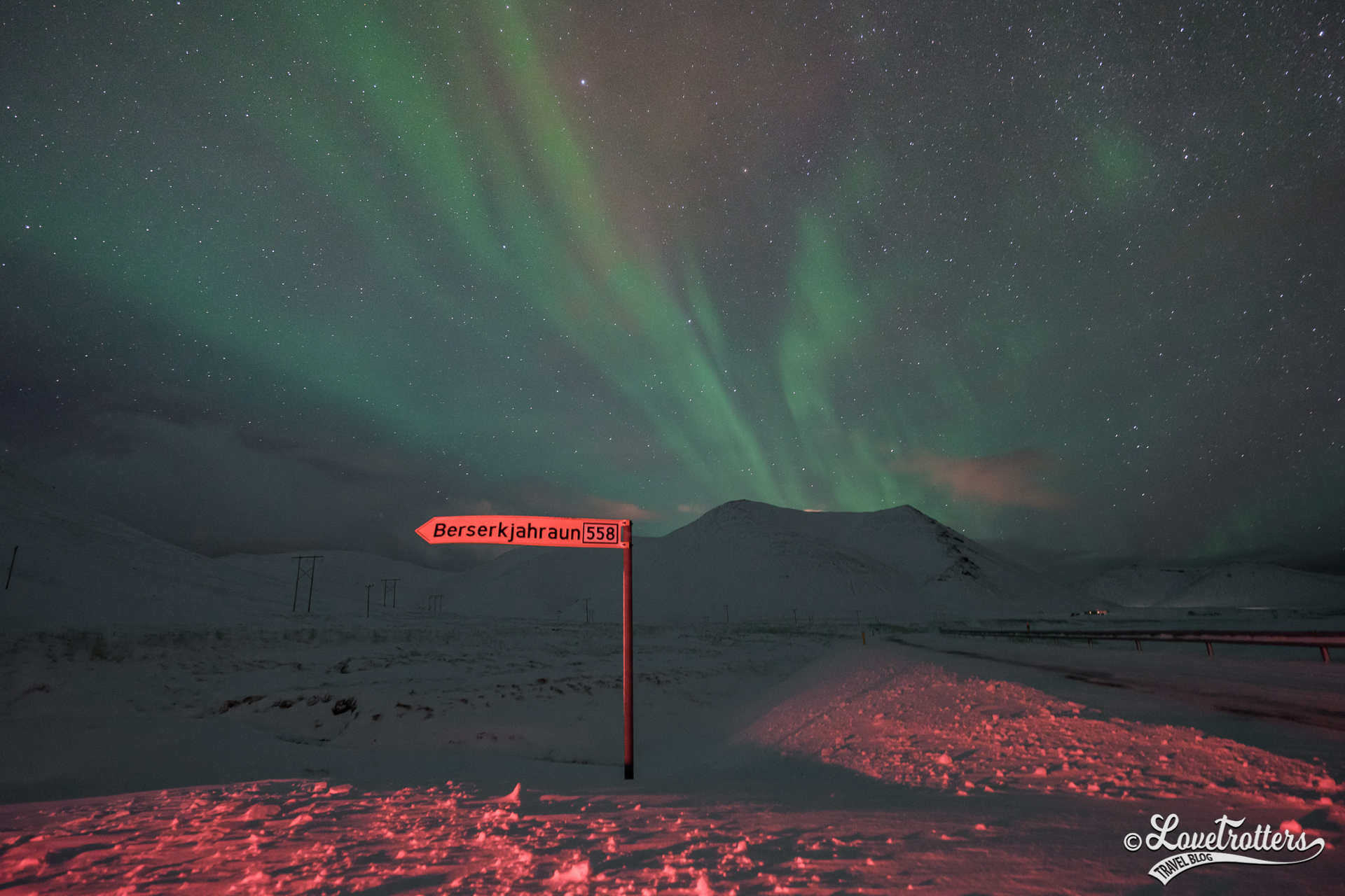 Chasse aux aurores boréales en Islande en voiture