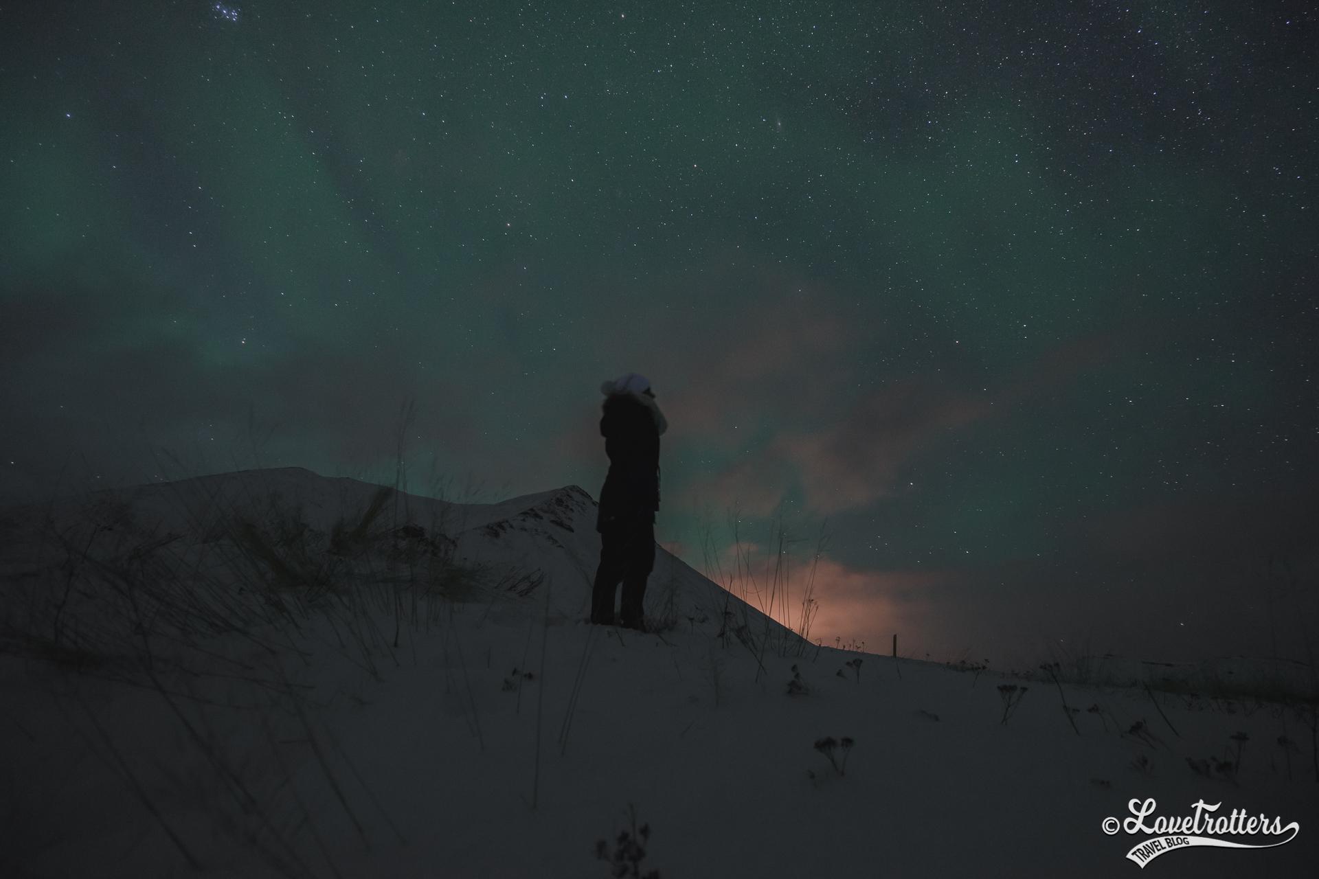 Chasse aux aurores boréales en Islande
