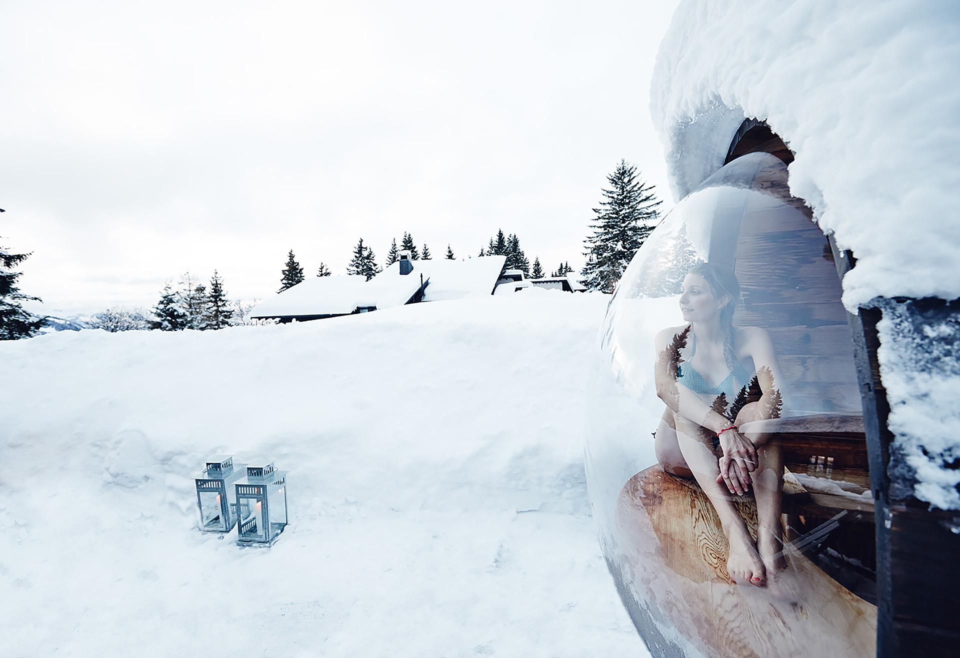 Voyage en amoureux en hiver en suisse
