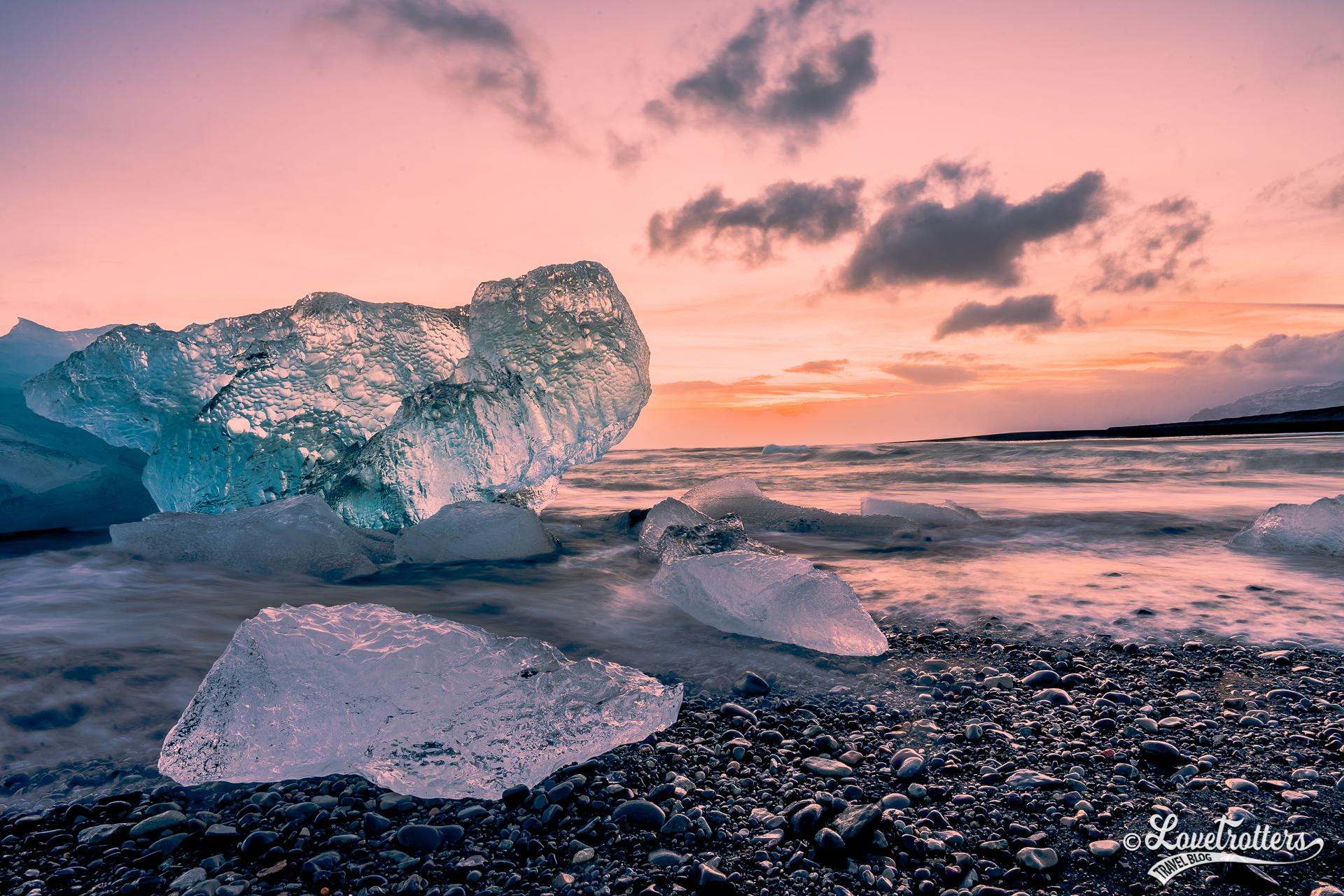 voyage en Islande en hiver diamond beach