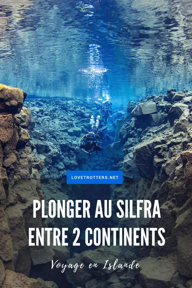 Plonger au Silfra en Islande l'hiver