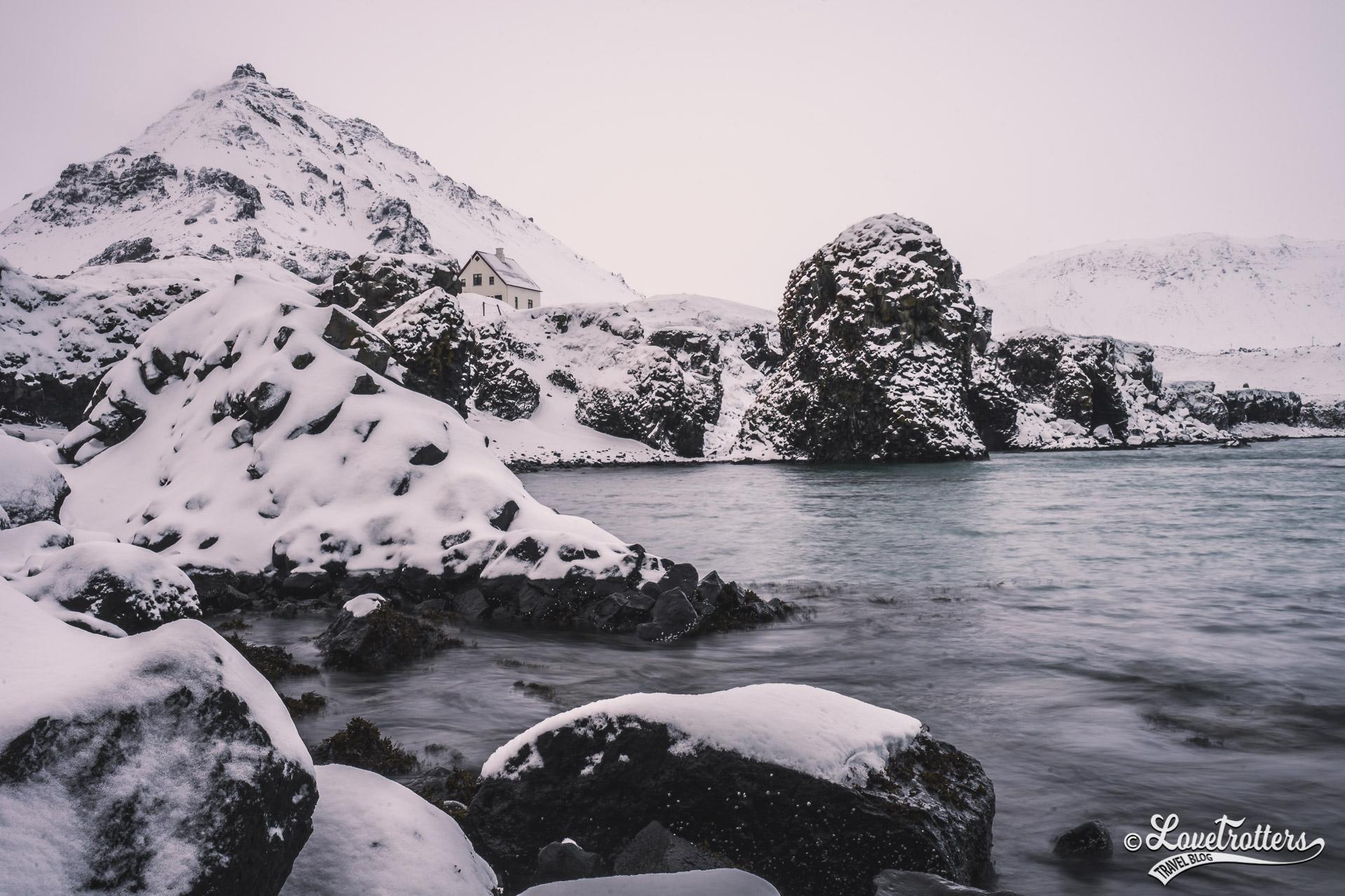 Glacier Snaefellsjokull sur la peninsule snaefellness en Islande