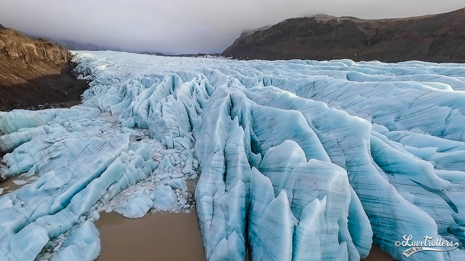 les glaciers en Islande: Svinafeljokull