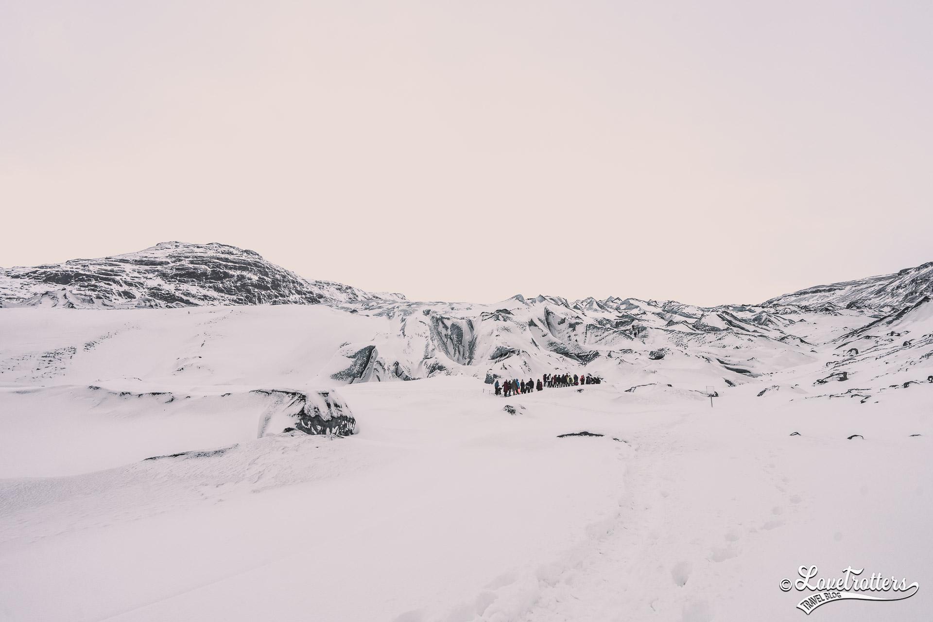 Randonnée sur glace sur le glacier SÓLHEIMAJÖKULL en Islande