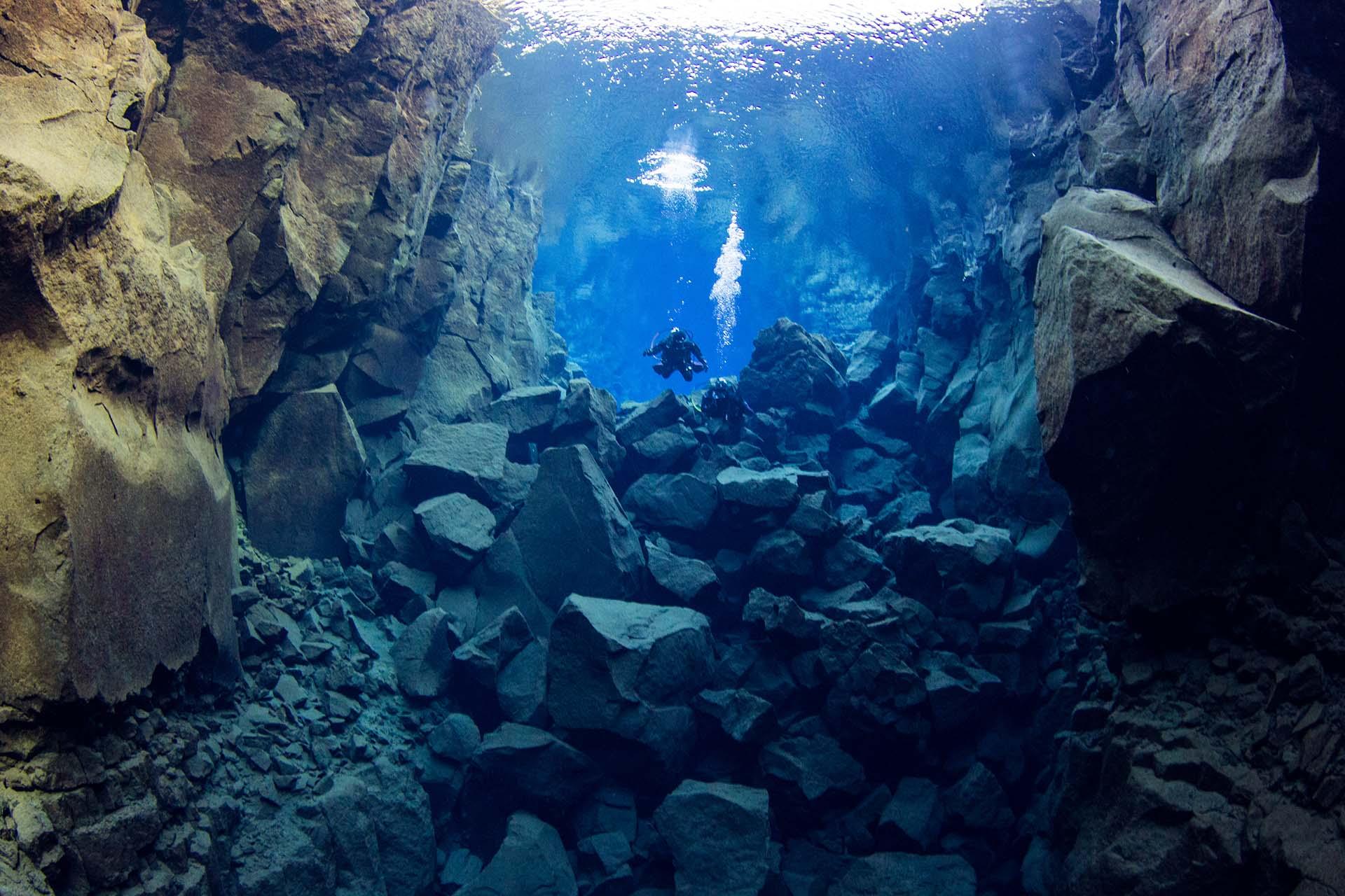 Plongée sous-marine à Silfra en Islande