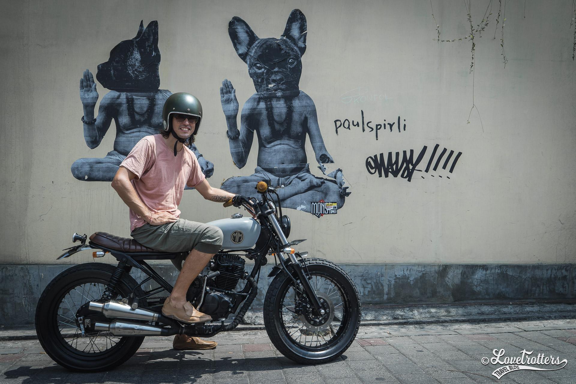 Voyage à Bali - location de moto vintage à Canggu