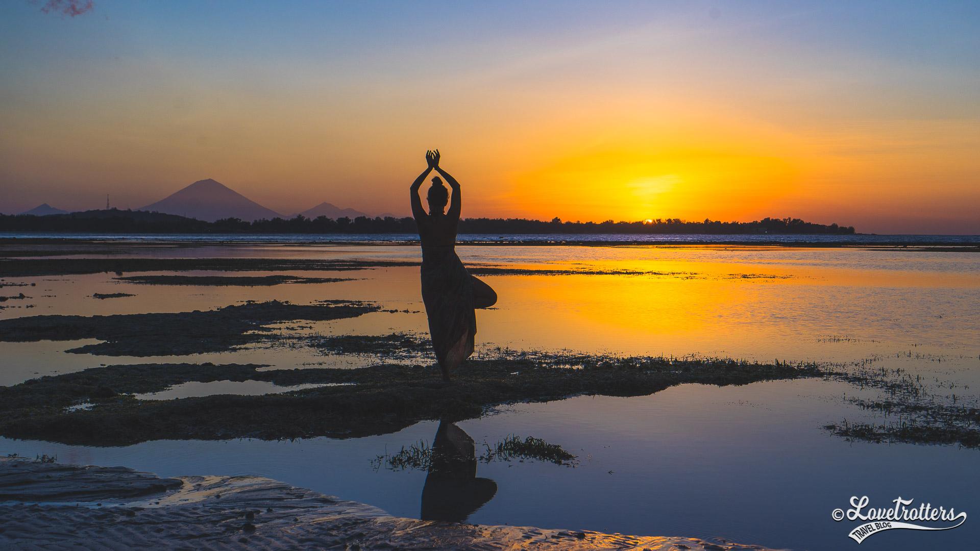 Voyage à Bali - coucher de soleil sur Lombok et Bali