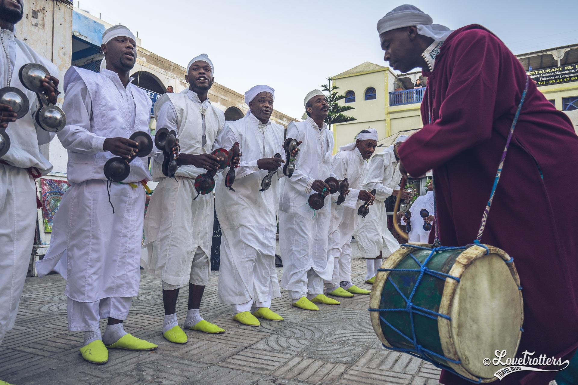 Groupe gnaoua à Essaouira